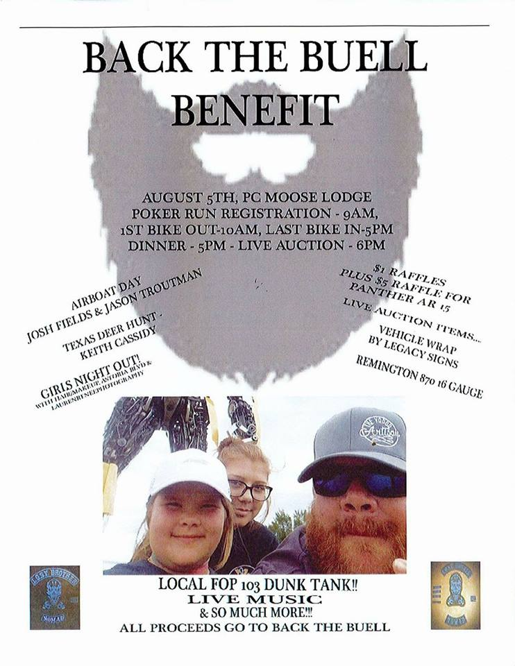 Back the Buell Benefit Auction